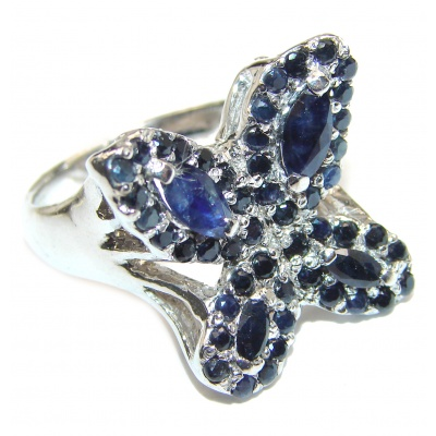 Sublime Butterfly Multigem .925 Sterling Silver handmade Ring s. 8