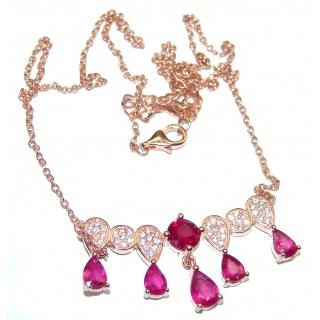 Magnificent Jewel authentic Kashmir Ruby .925 Sterling Silver handcrafted necklace