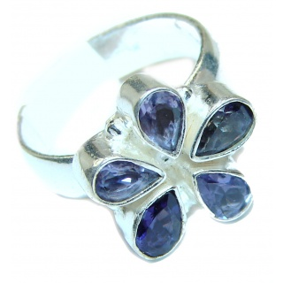 Iolite .925 Sterling Silver Ring s. 9