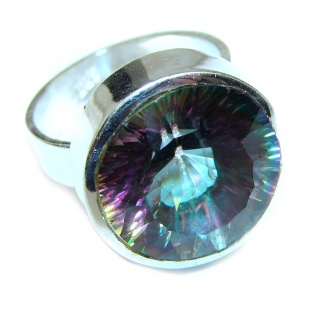Perfect Mystic Topaz Sterling Silver Ring s. 7
