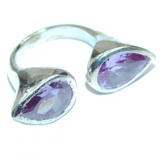 Purple Arfican Amethyst .925 Sterling Silver Ring size 6