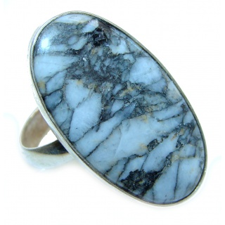 best quality Genuine Imperial Jasper .925 Sterling Silver handcrafted ring s. 7 adjustable