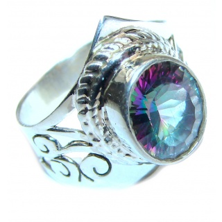 Perfect Mystic Topaz Sterling Silver Ring s. 7 1/4