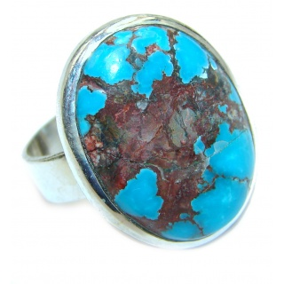 Turquoise .925 Sterling Silver ring; s. 9