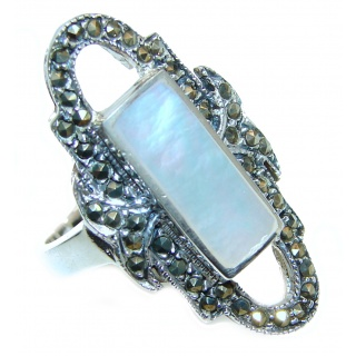 Blister Pearl .925 Sterling Silver handmade ring size 8 1/2