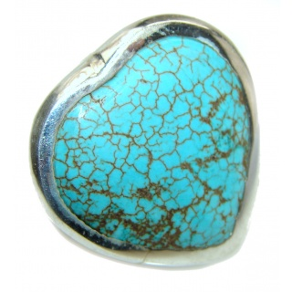 Turquoise .925 Sterling Silver ring; s. 10