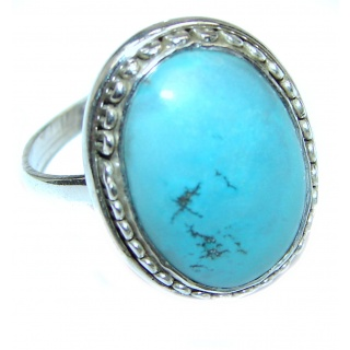 Turquoise .925 Sterling Silver ring; s. 8 1/2