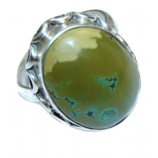 Turquoise .925 Sterling Silver ring; s. 8