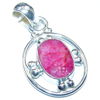 Fantastic Ruby .925 Sterling Silver handcrafted pendant
