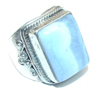 Excellent quality Crazy Lace Agate .925 Sterling Silver Ring s. 8 1/2