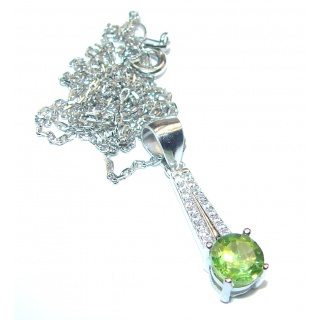 Aurora authentic Peridot .925 Sterling Silver handcrafted necklace