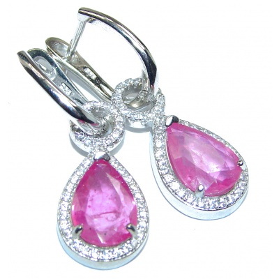 Juicy authentic Ruby .925 Sterling Silver handmade Earrings