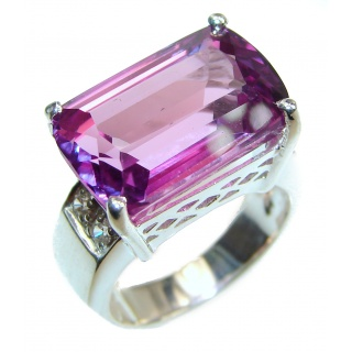 Purple Perfection Amethyst .925 Sterling Silver Ring size 6