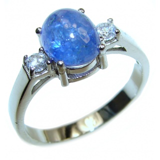 Mesmerizing authentic Sapphire .925 Sterling Silver handmade Ring size 9