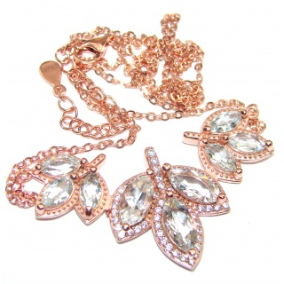 Angel's Charm Morganite Rose Gold over .925 Sterling Silver handmade Necklaces