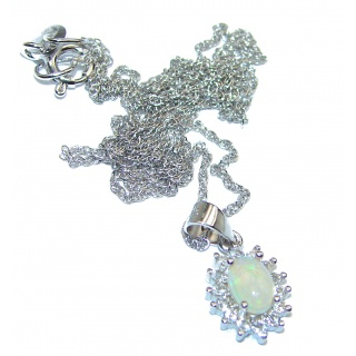 Genuine Ethiopian Opal .925 Sterling Silver brilliantly handcrafted necklace