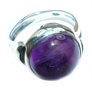 Purple Perfection Amethyst .925 Sterling Silver Ring size 6 1/2