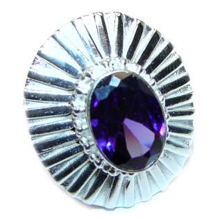 Purple Perfection Amethyst .925 Sterling Silver Ring size 8 1/4