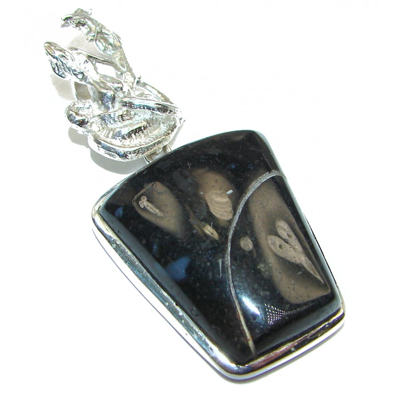 Pure Perfection Natural Moss Agate .925 Sterling Silver handmade Pendant