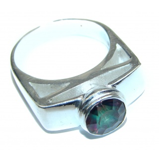 Perfect Mystic Topaz Sterling Silver Ring s. 11