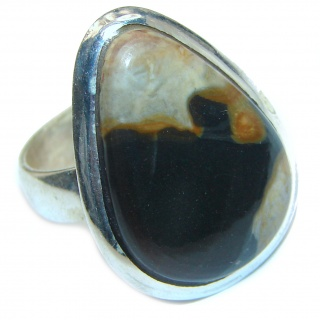Imperial Jasper .925 Sterling Silver Ring size 7 1/4
