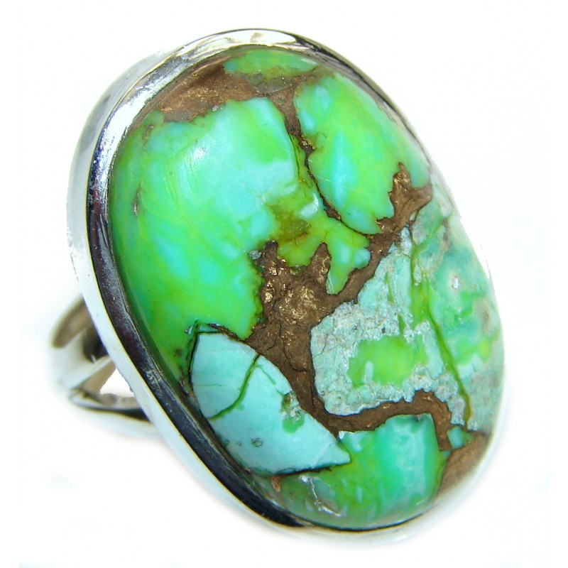 Green Chunky Turquoise Ring