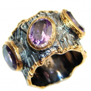 Purple Perfection Amethyst .925 Sterling Silver Ring size 5 3/4