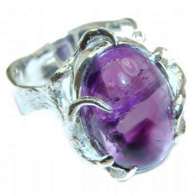 Purple Perfection Amethyst .925 Sterling Silver Ring size 8 1/2