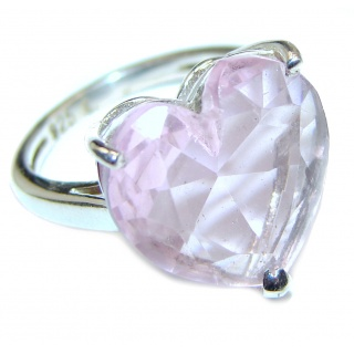 Sweet Heart Topaz .925 Silver handcrafted Ring s. 6