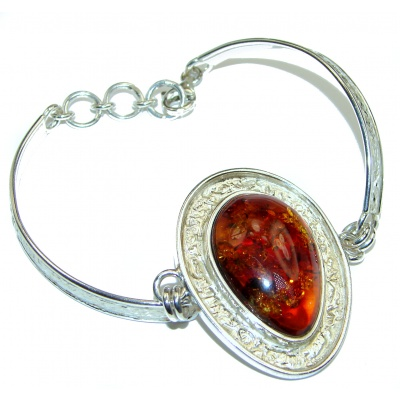 Beautiful Copal Amber .925 Sterling Silver handcrafted Bracelet
