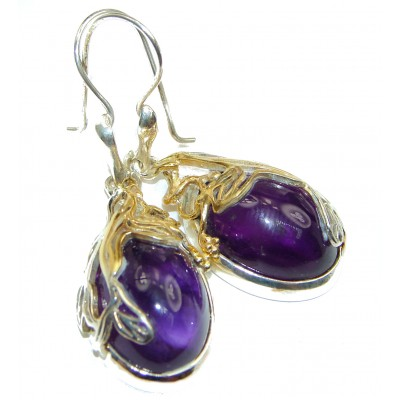 Amazing authentic Amethyst .925 Sterling Silver handcrafted earrings