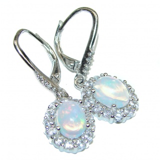 Dazzling natural Precious Ethiopian Fire Opal .925 handcrafted earrings