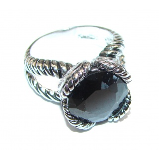 Majestic Authentic Onyx .925 Sterling Silver handmade Ring s. 6