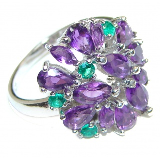 Purple Perfection Amethyst .925 Sterling Silver Ring size 6 3/4