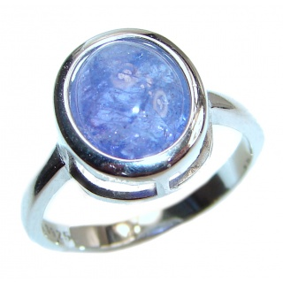 Chunky Authentic African Tanzanite .925 Sterling Silver handmade Ring s. 7 1/4