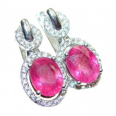 Incredible Authentic Ruby .925 Sterling Silver handmade earrings
