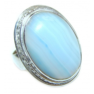 Botswana Agate .925 Sterling Silver Ring size 9