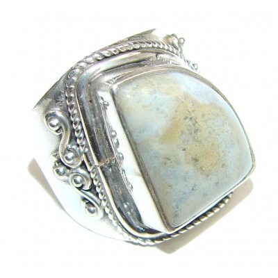 Great Ocean Jasper Sterling Silver Ring s. 7 1/2