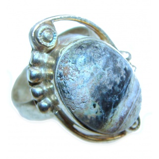 Dendritic Agate .925 Sterling Silver Ring size 10 1/2