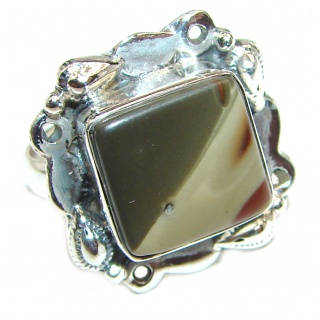 Imperial Jasper .925 Sterling Silver Ring size 7
