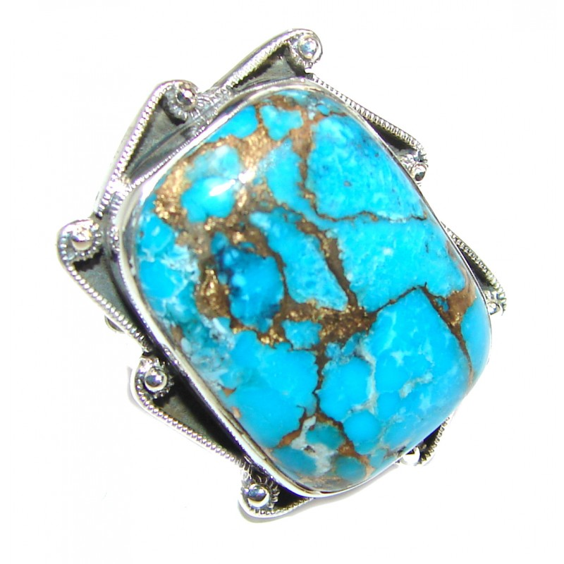 Great quality Blue Turquoise .925 Sterling Silver handcrafted Ring size 7