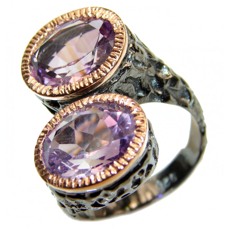 Amethyst Twin Stone Ring