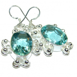 Angel Blue Quartz .925 Sterling Silver handcrafted earrings