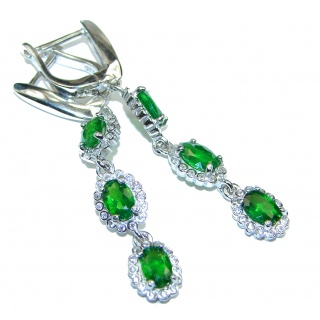 Classy Chrome Diopside .925 Sterling Silver handcrafted earrings