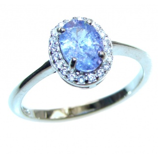 Bouquet of Flowers 1.5ctw Authentic Tanzanite .925 Sterling Silver handmade Ring s. 7 1/4