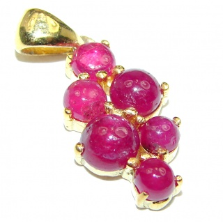 Authentic Kashmir Ruby 14K Gold over .925 Sterling Silver Pendant