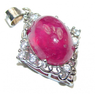 Princess Incredible Authentic Ruby .925 Sterling Silver pendant