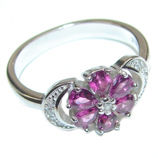 Genuine authentic Ruby .925 Sterling Silver handcrafted Ring size 8