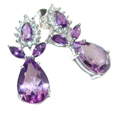 Heather Valley Amethyst .925 Sterling Silver handcrafted earrings