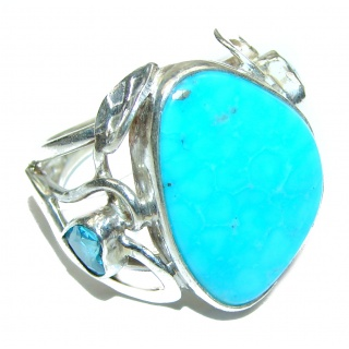 Sublime Slepping Beauty Turquoise .925 Sterling Silver ring